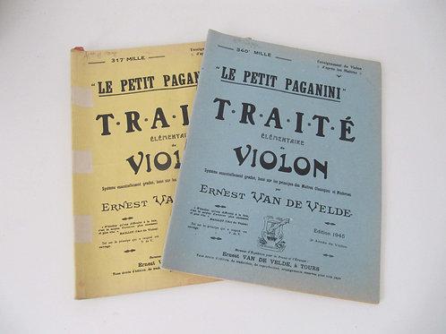 Méthodes Violon anciennes- Petit Paganini - le lot de 2