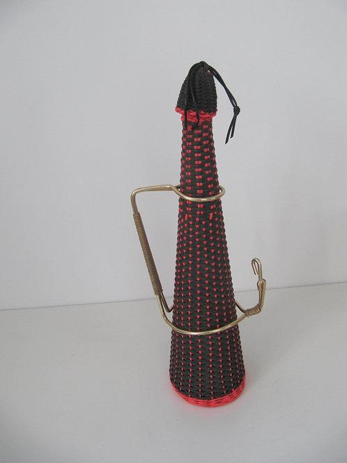 Bouteille scoubidou fluo années 60