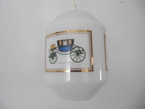 Lustre suspension en verre opalin - vintage