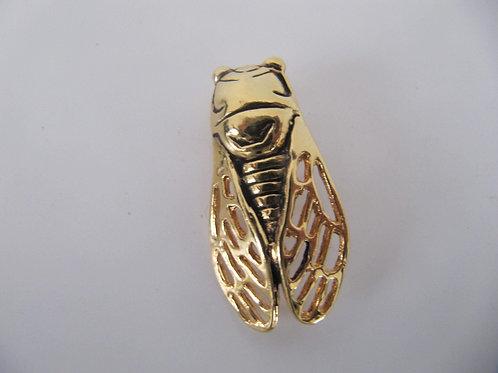 Broche cigale métal doré vintage- Prix port inclus