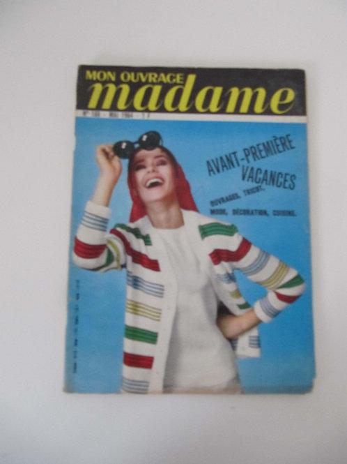 "Magazine Mon ouvrage madame-  mai 1964- ""Port inclus"""