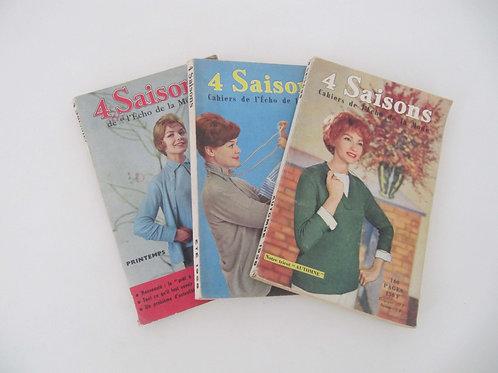 """Magazines Echo de la Mode de 1958 (le lot de 3)- """"Port inclus"""""""
