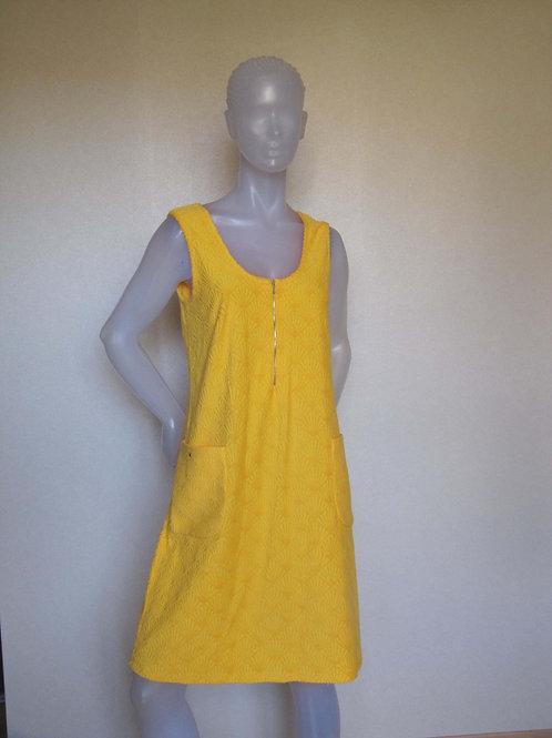 Robe éponge jaune - vintage- T40