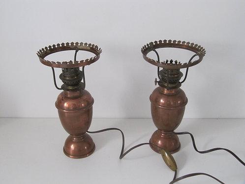 Lampe à poser en cuivre ( les 2)