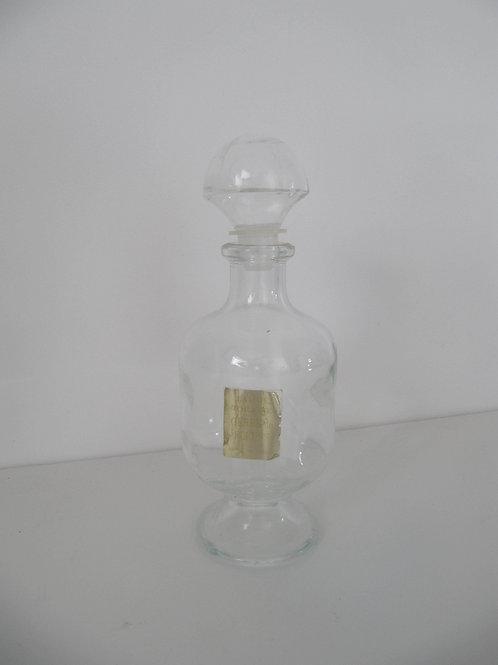 Flacon verre eau de toilette ancien
