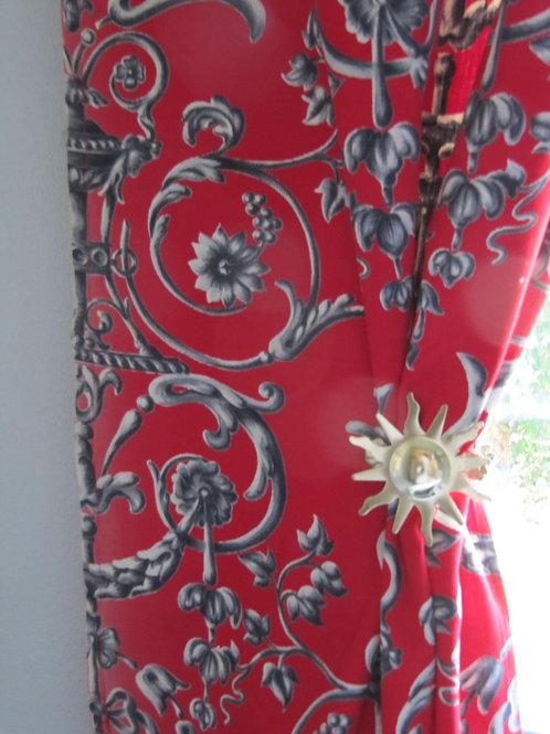 Double rideaux vintage - tissu Romanex de Boussac
