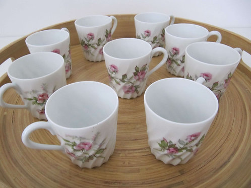 Tasses porcelaine fine Haviland - 1930