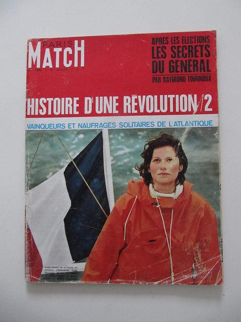"""Paris Match numéro 1000 de 1968- """"Port inclus"""""""