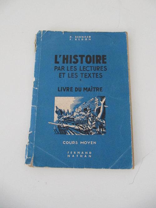 """Livre du maître de 1950 - L'Histoire - """"Port inclus"""""""