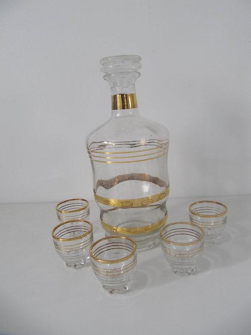 Service à liqueur verre Art déco
