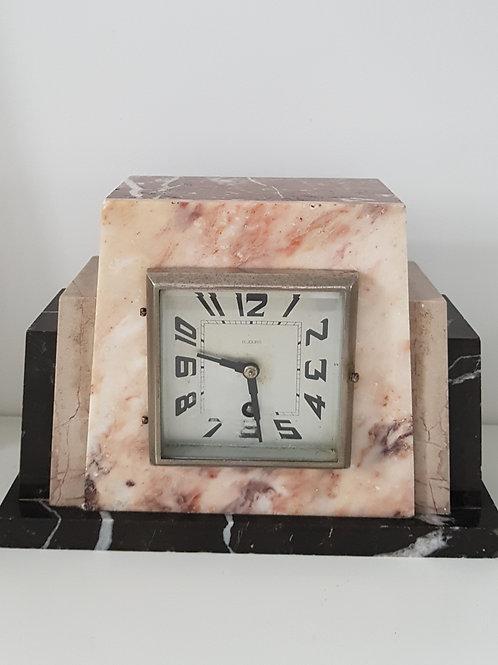 Pendule Art Déco en marbre -Bayard  8 Jours