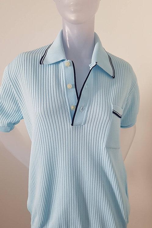 Polo Homme bleu ciel des années 60- Vintage