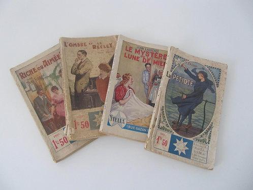 Lot de 4 livres de poche anciens- collection Stella - Port inclus