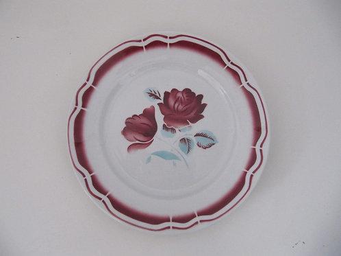 Assiette faïence roses rouges (le lot de 2)