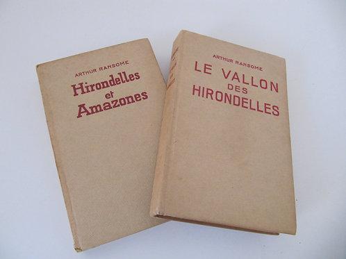 Livres reliés d'Arthur Ransome1945 et 1947 - le lot de 2