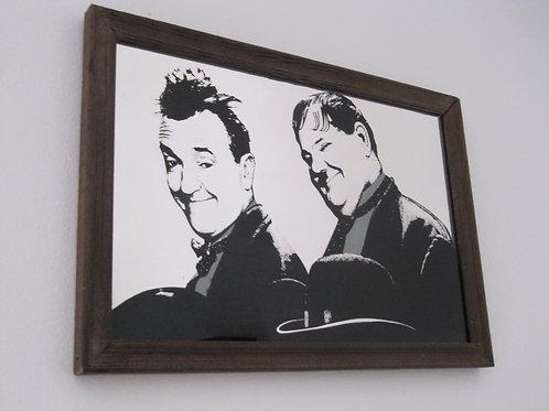 Miroir Vintage de Laurel et Hardy