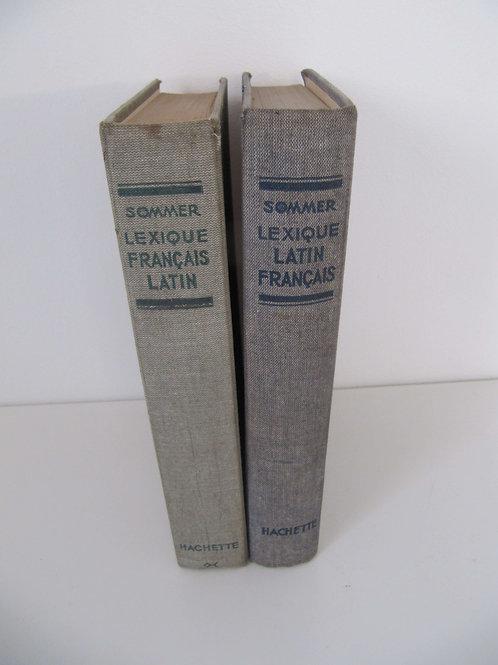 """Dictionnaires anciens Latin - Français et Français - Latin-""""Port inclus"""""""