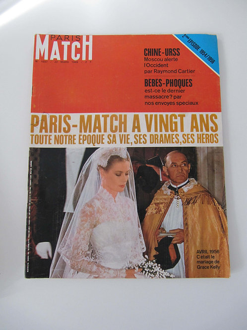 "Paris Match N° 1037 de mars 1969 - ""Port inclus"""