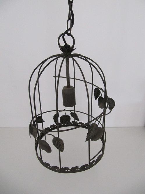 Suspension forme cage oiseau acier brossé