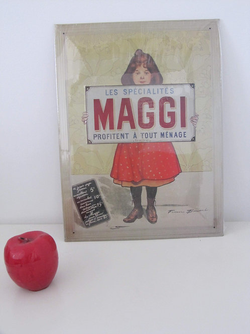 Plaque métal publicitaire MAGGI - Prix port inclus