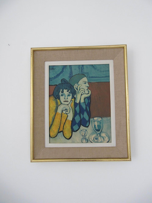 Picasso- le couple au café- reproduction encadrée