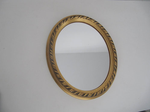 Miroir ovale doré ancien