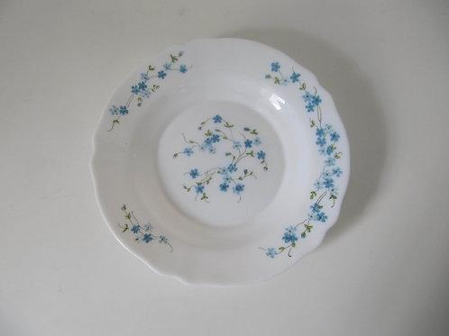 Assiette creuse Arcopal fleurs bleues