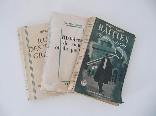 """Romans anciens 1945- le lot de 3 - """"Port inclus"""""""