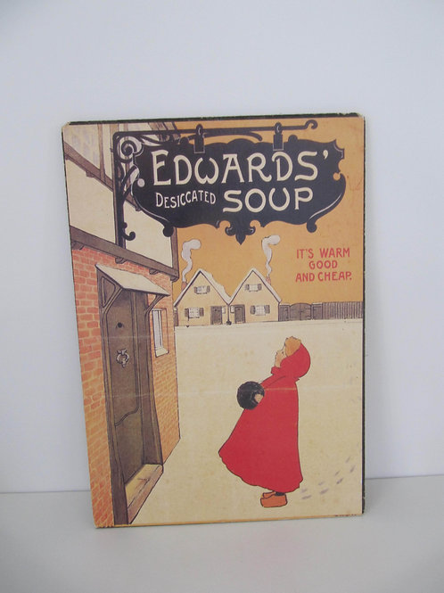 """Affiche sur panneau Edwards' - Desiccated Soup"""" Vintage Sign"""