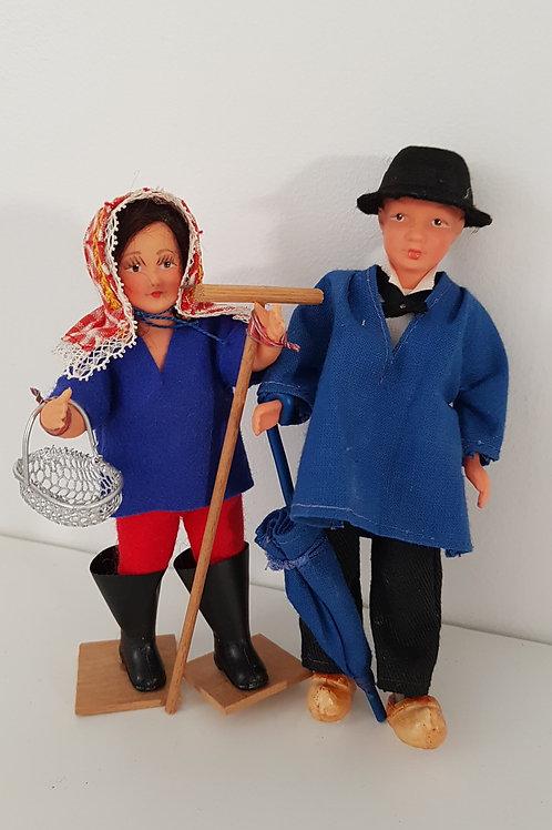 Poupées miniatures régionales - l'Ile de ré- Vintage