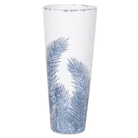 Small Blue and White Fern Vase