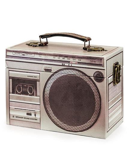 Grey Retro Stereo Storage Box