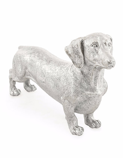 Silver Dachshund Figure
