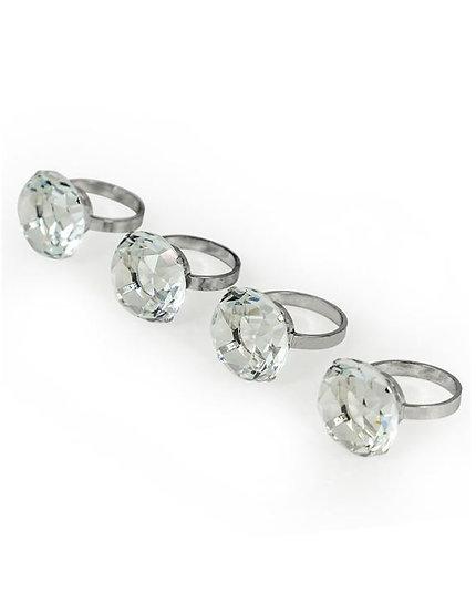 Diamond set of Napkin Rings
