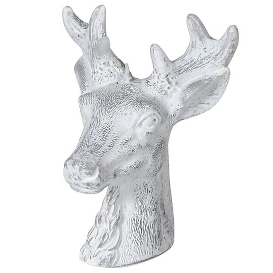 Frosty Deer Head Candle