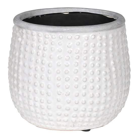 Ceramic White Dots Planter