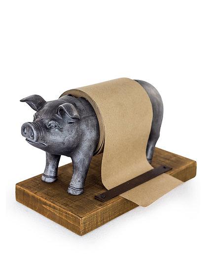 Silver Pig Paper / Toilet Paper Holder