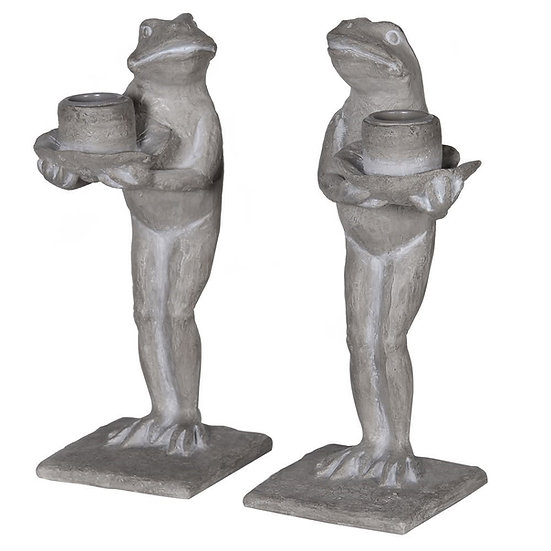 Standing Frog Candle Stick (Left)