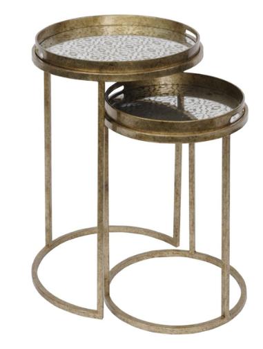 Set of 2 Diamond Tray Tables