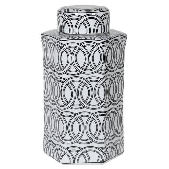 Ceramic Hexagan Jar