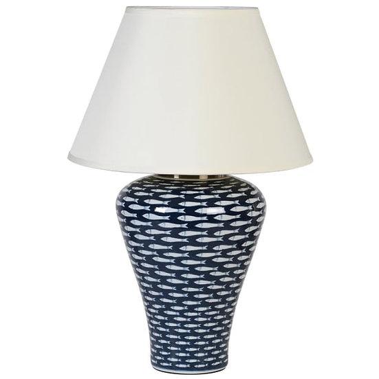 Deep Blue Fish Lamp & Shade