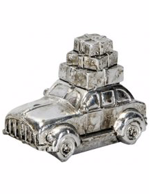 Vintage Car with a Bundle of Presents
