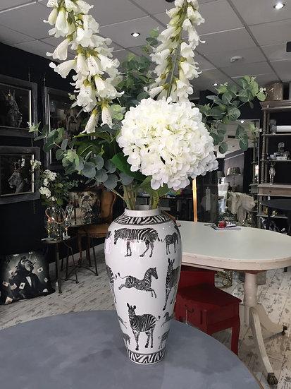 Large Zebra Print Vase