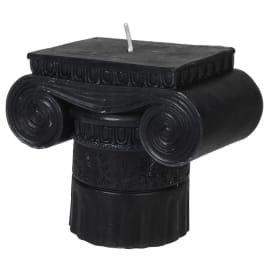 Roman Pillar Candle (Black)