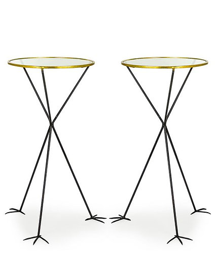 Glass Table with Bird Legs