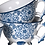 Thumbnail: Set of 4 Blue Pattern Cups