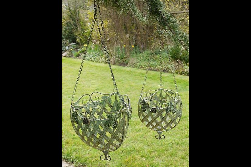 Set of 2 CHO Hanging Baskets