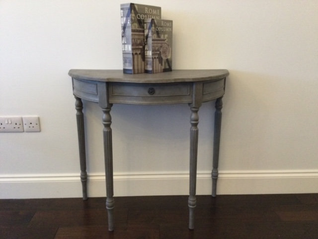 Half Moon Table with Drawer