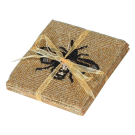 Set of 4 Gold Bee Coasters