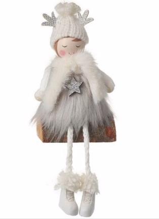 Angel in Fur Wrap